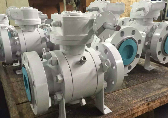 Locking Device Trunnion Mounted Ball Valve Low Torque Antistatic Spring Loaded Seat